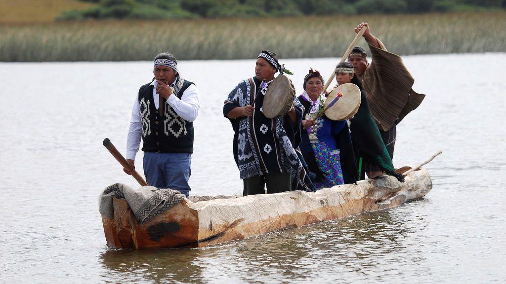 'Wampo', una canoa tradicional mapuche