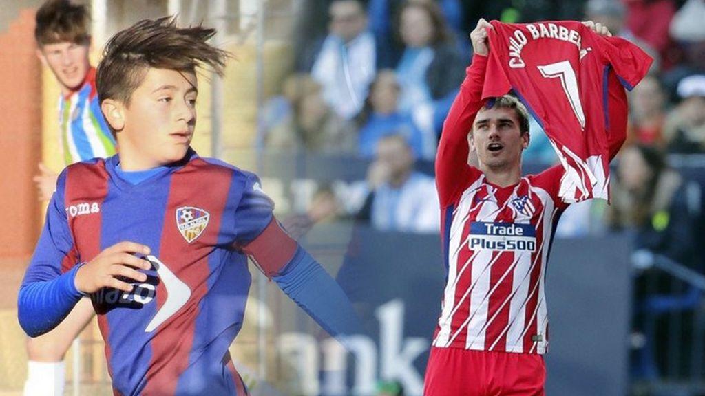Griezmann dedica su gol a Nacho Barberá, el niño fallecido por muerte súbita en Valencia