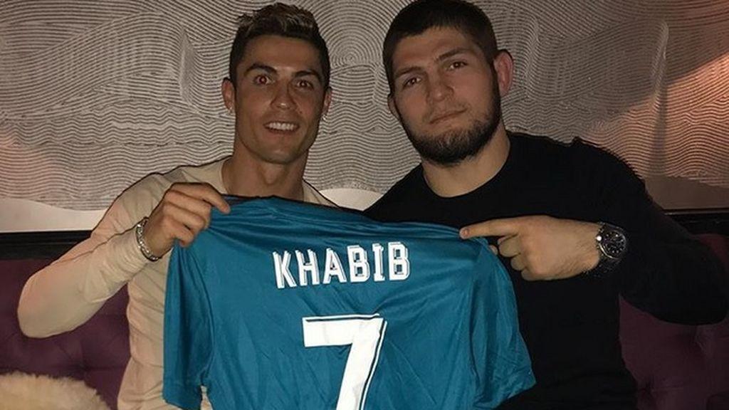 Cristiano Ronaldo recibe la visita de Khabib, la kriptonita del Connor McGregor