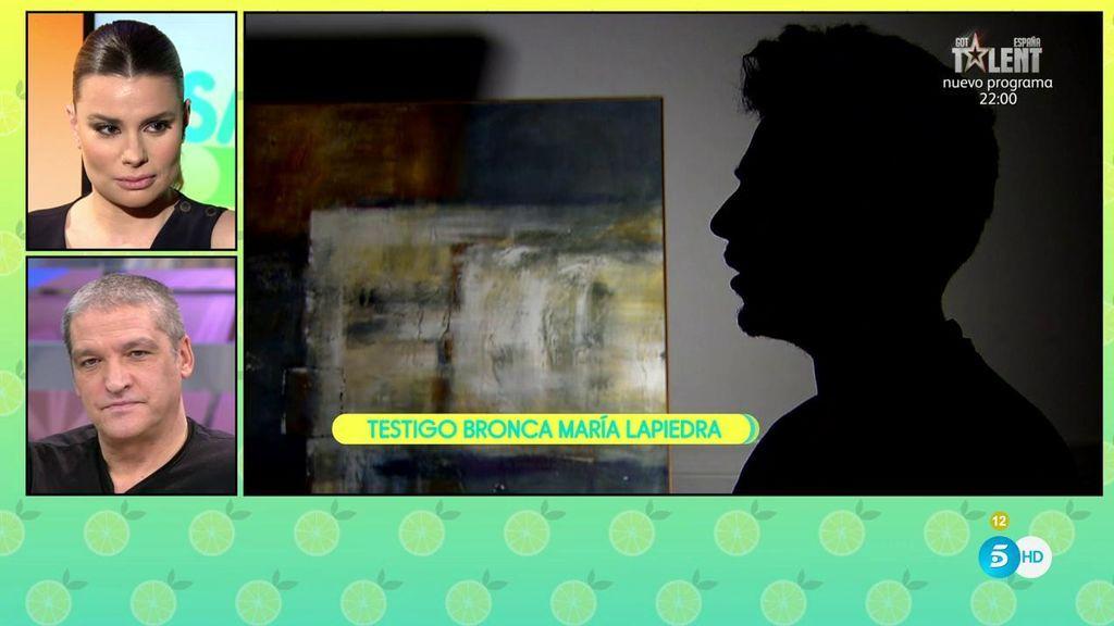"""Testigo de la bronca de María Lapiedra: """"Decía que iba a terminar la relación con Gustavo porque no aguantaba más"""""""