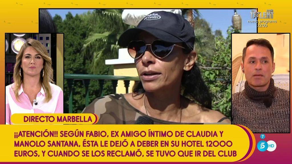 """Fabio, examigo de Manolo Santana: """"Claudia controlaba hasta lo que comía Manolo"""""""