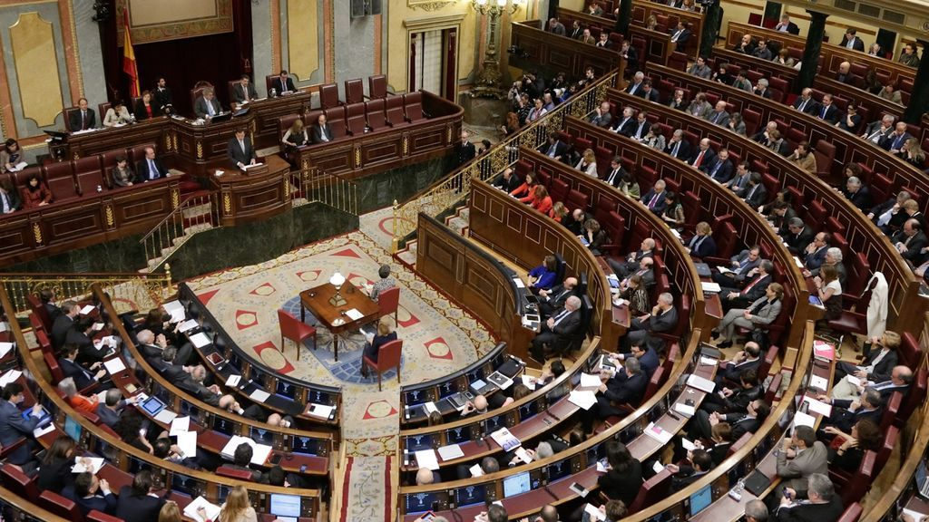 Interior del Congreso de los Diputados.