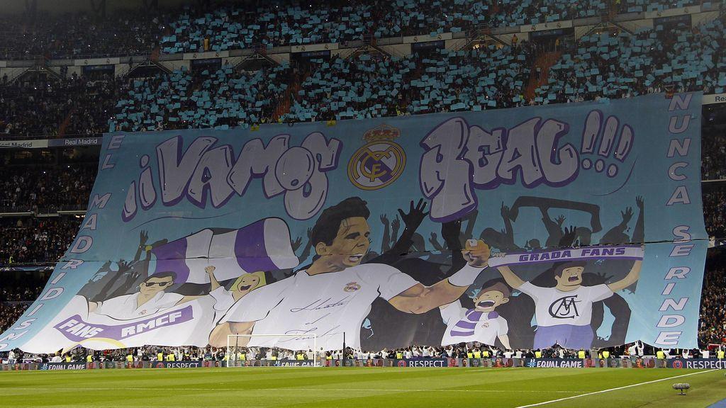 """Rafa Nadal da la bienvenida al PSG en el Santiago Bernabéu: """"Vamos Real"""""""