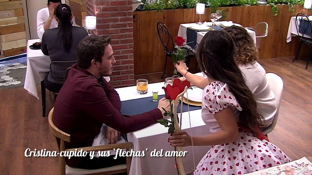 Cistina Cupida ha repartido amor por todo el restaurante