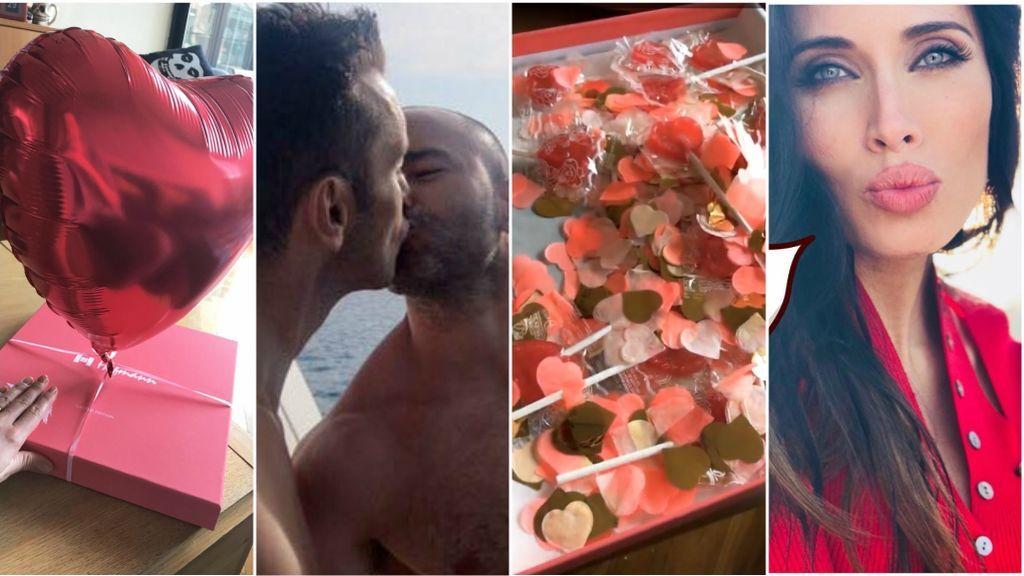 💗Pilar Rubio, de rojo, Pelayo con Lacasitos y Dafne Fernández con piruletas: declaraciones de San Valentín vip 💗