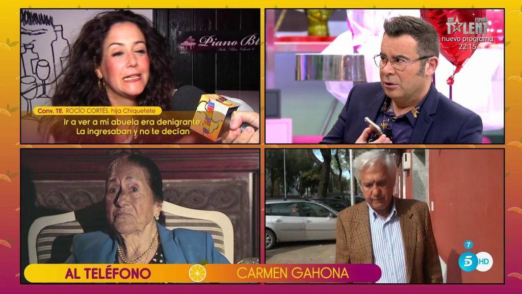 """Carmen Gahona, sobre Rocío Cortés: """"Nadie le ha prohibido la entrada a nadie, Antonio fijó un horario en el tanatorio"""""""