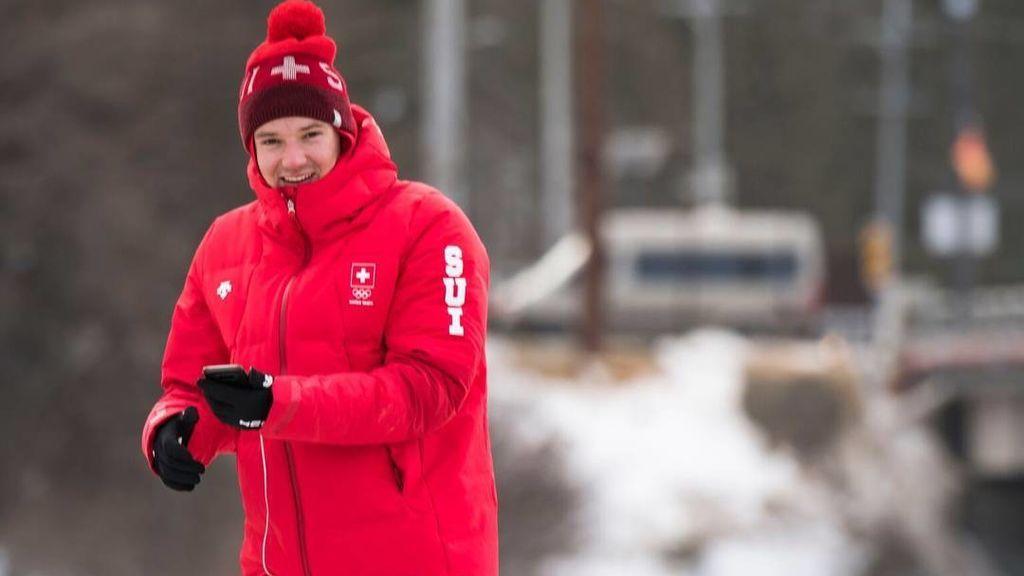 Fabian Bösch, esquiador suizo de 20 años: Todavía no ha competido y ya es el héroe de la villa olímpica