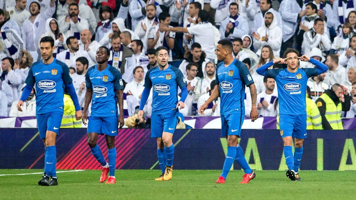 El Fuenlabrada presume en redes de haber marcado más goles que el PSG en el Santiago Bernabéu