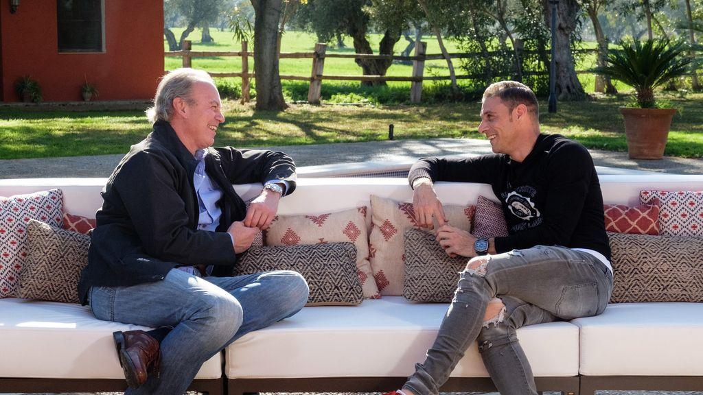 Joaquín Sánchez, invitado de Bertín Osborne en 'Mi casa es la tuya'.