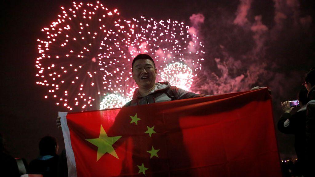 Comienzo de las celebraciones del Año Nuevo chino en Manhattan, Nueva York, EE. UU