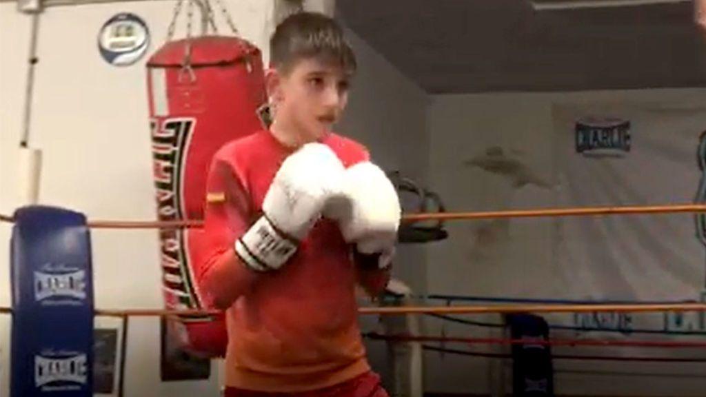 Asier 'Dinamita' Lanzarote, doble campeón de España de boxeo con 11 años