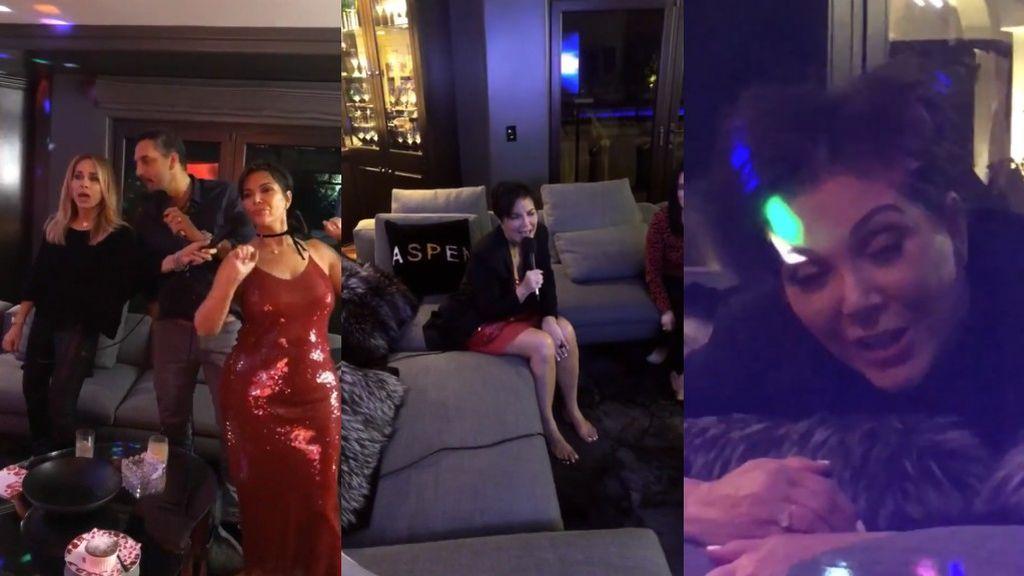 La cena de San Valentín de los Kardashian acaba con despiporre: Kris Jenner lo da todo en el karaoke