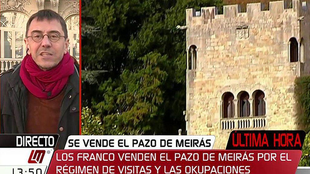 """Monedero: """"La impunidad que vemos ahora tiene como trasunto la impunidad del franquismo"""""""