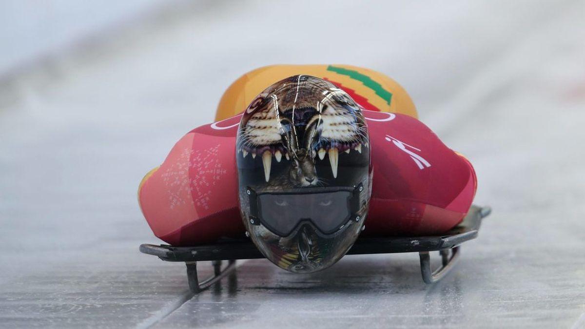 El casco que mete miedo a sus rivales en los Juegos Olímpicos de PyeongChang