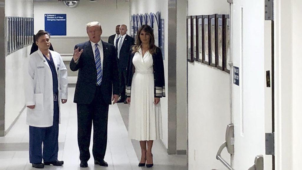 Trump visita el hospital donde se encuentran las víctimas del tiroteo de Florida