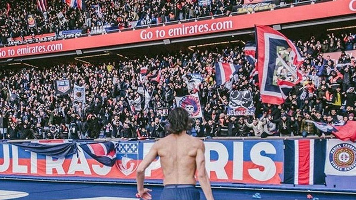 La pancarta ofensiva contra el Real Madrid de los hinchas del PSG en el Parque de los Príncipes