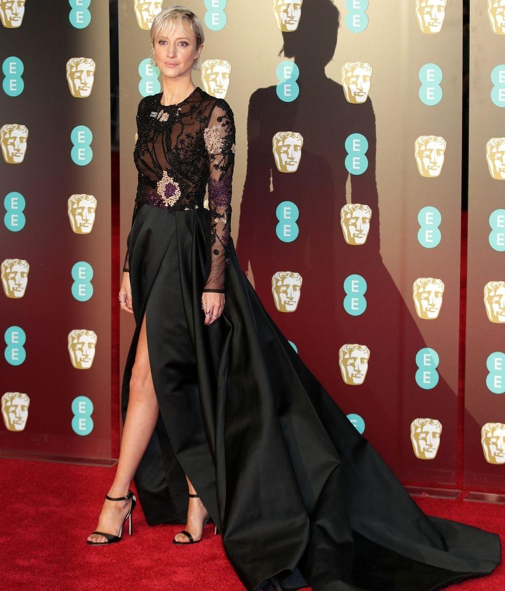 en la alfombra roja de los BAFTA