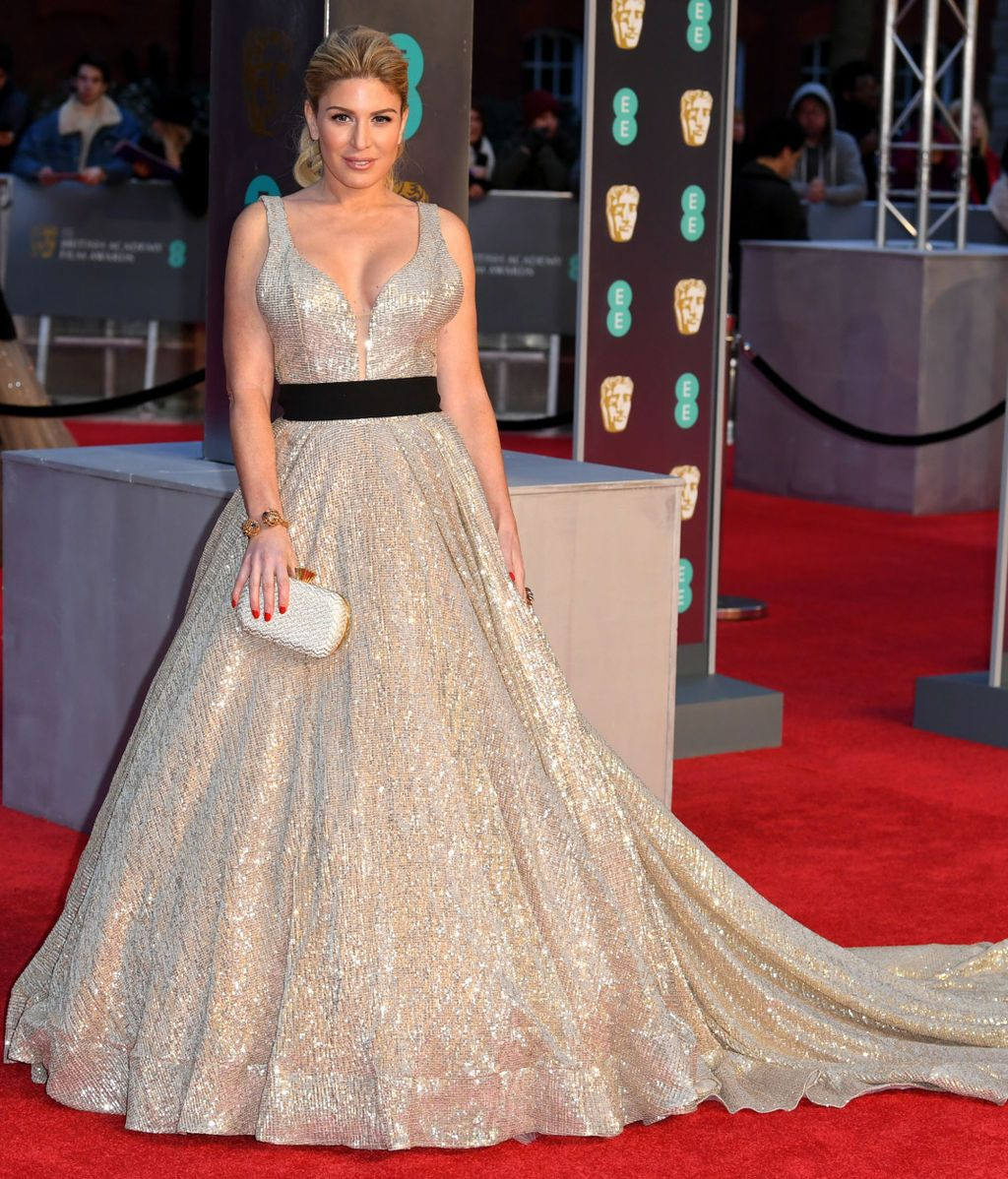 Hofit Golan en la alfombra roja de los BAFTA