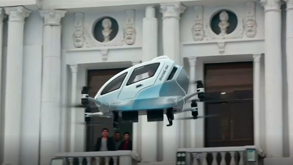 China presenta el 'taxi drone': el medio de transporte del futuro