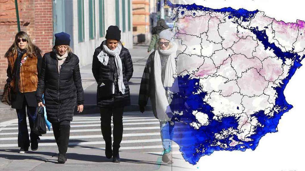 ¡Prepara el abrigo! Una masa de aire 'siberiano' desplomará los termómetros a partir del miércoles