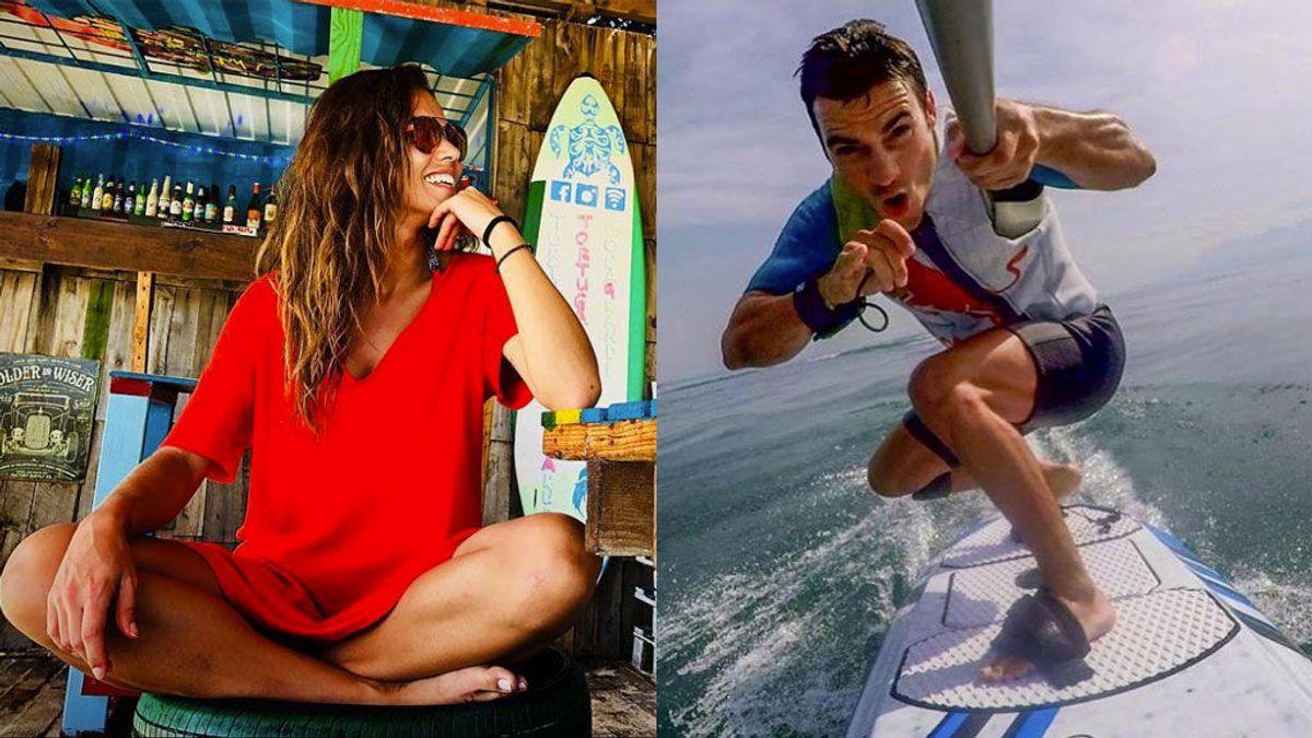 El reto acuático de Lara Álvarez a Dani Pedrosa y la respuesta del piloto de MotoGP