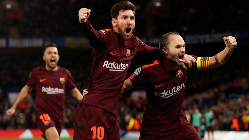 El Barça empata ante el Chelsea (1-1) con gol de Messi en Stamford Bridge