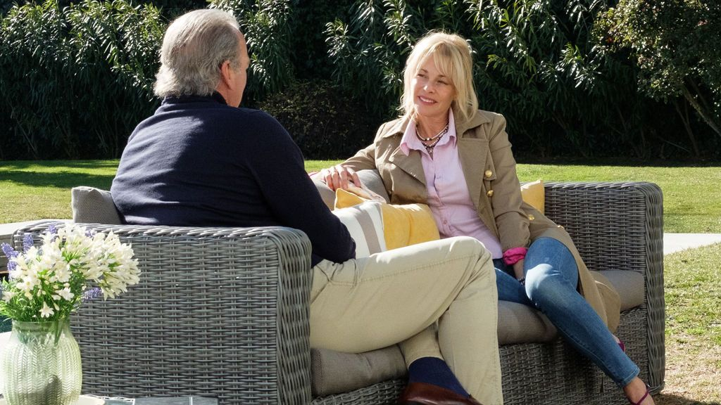 Bertín Osborne recibe a Belén Rueda en 'Mi casa es la tuya'.