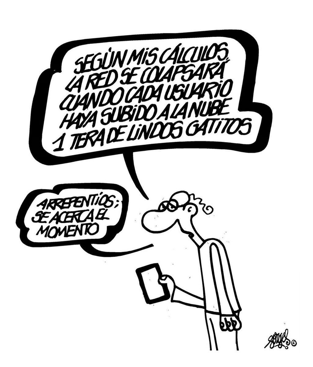 """Que estemos buscando """"Borges dibujante"""" en Google es un chiste digno de Forges"""