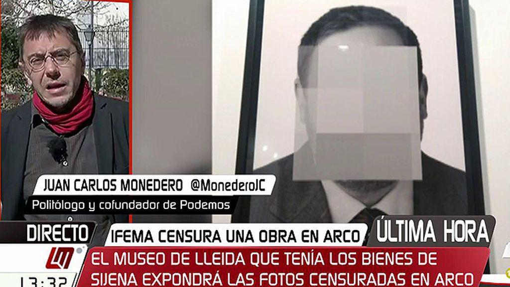 """Monedero, tras la polémica en ARCO: """"Estamos en un momento de involución"""""""