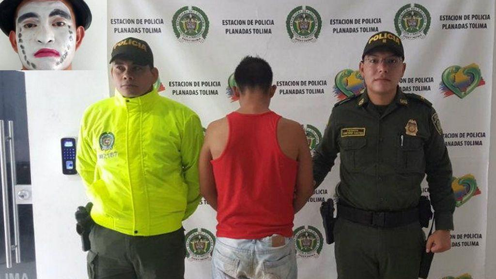 Detenido un mimo que utilizaba su disfraz para abusar de niñas en Colombia