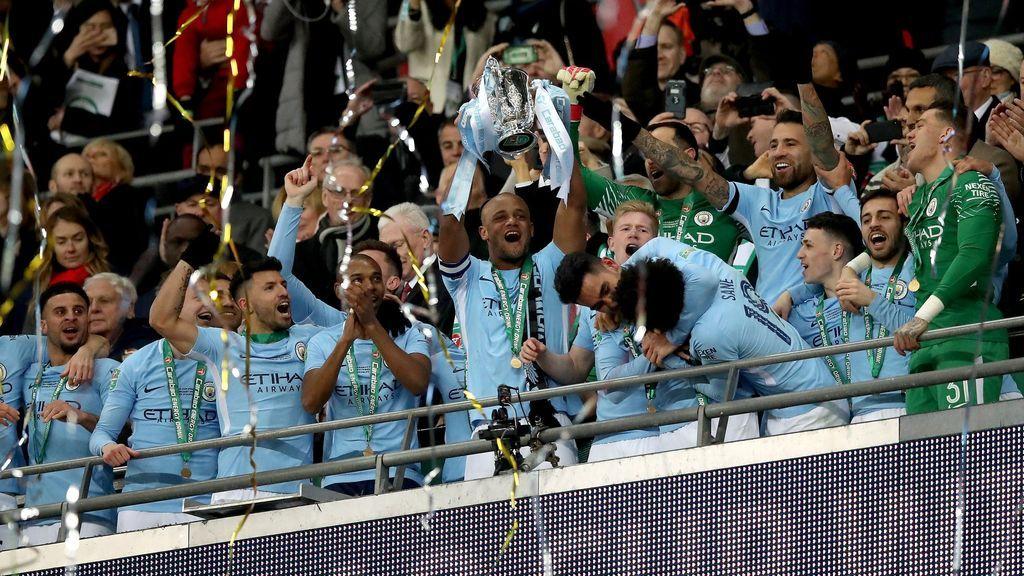 El Manchester City gana la Copa de la Liga con una goleada al Arsenal (3-0)