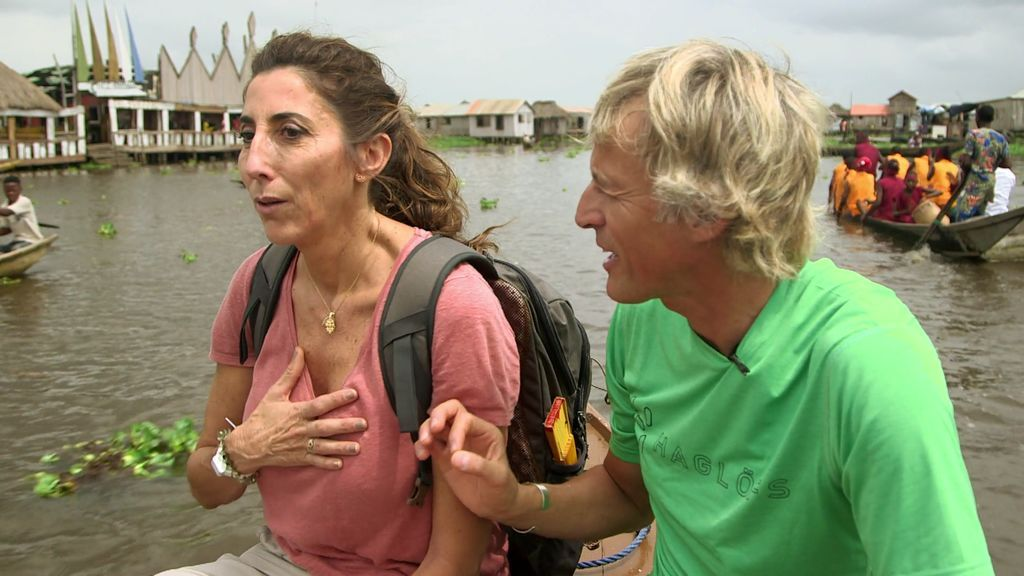 Paz Padilla se emociona en Ganvié, el increíble pueblo que se encuentra sobre un lago
