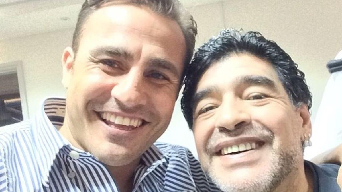 Cannavaro y el día que rompió a llorar al conocer a Maradona