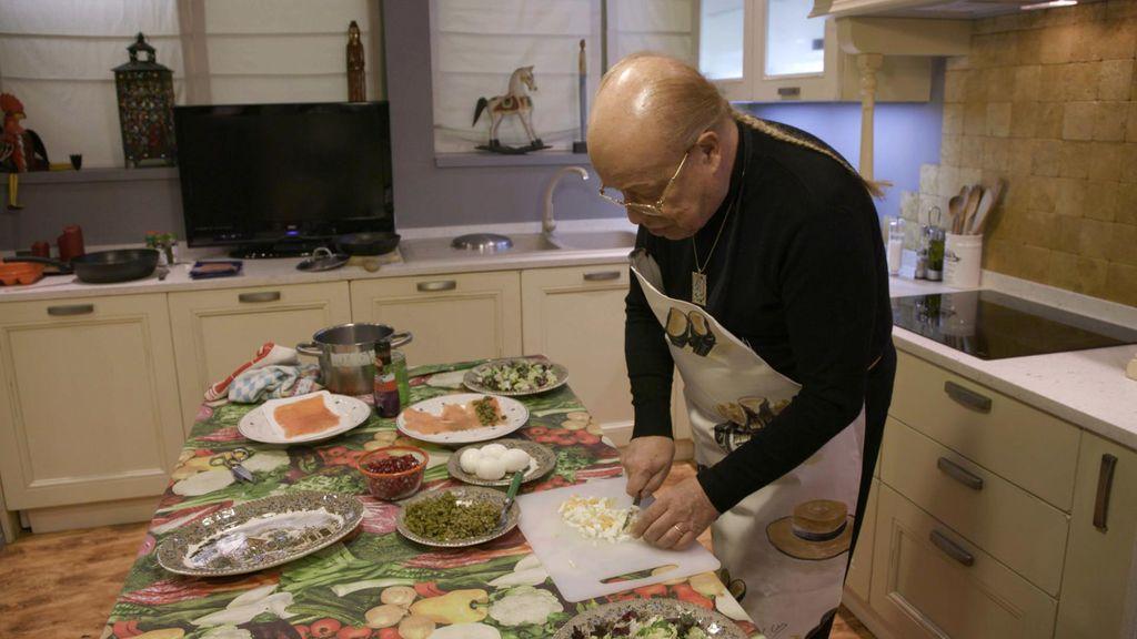 Rappel, anfitrión en el segundo programa de 'Ven a cenar conmigo: Gourmet edition'.