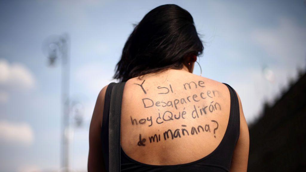 Manifestación en la que se pide justicia para las mujeres que son víctimas de la violencia en México