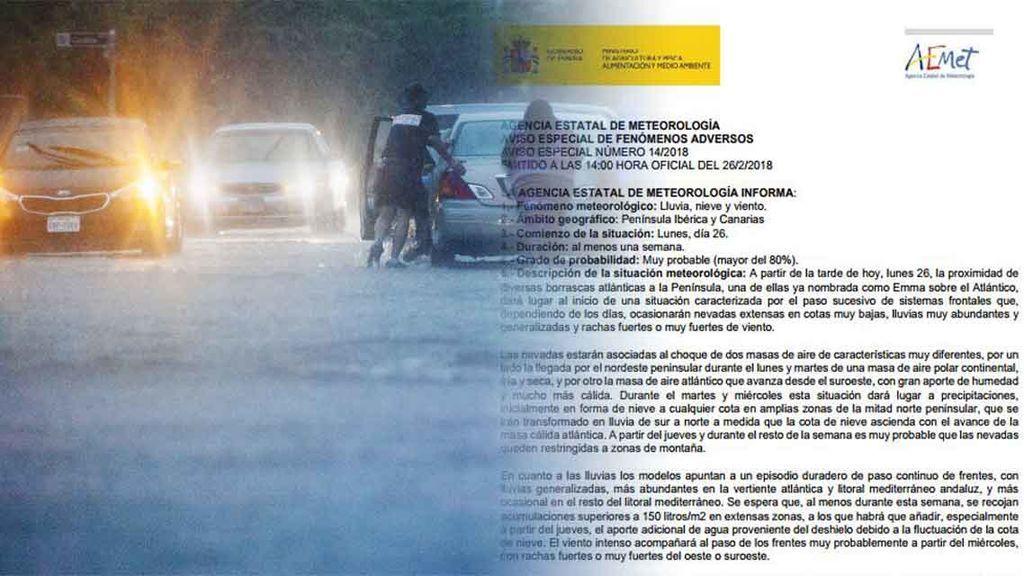 Aviso especial de la AEMET: cuidado con las inundaciones y el deshielo esta semana