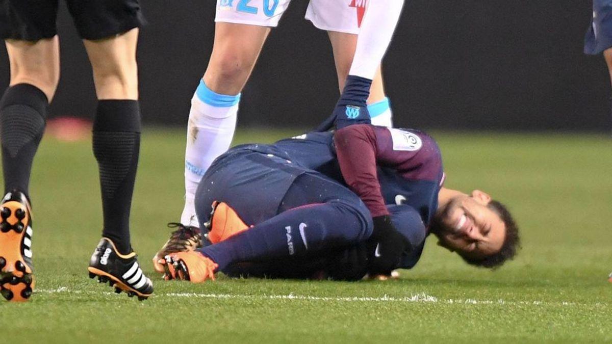 La cara que se le quedó al jeque del PSG al ver la lesión de Neymar