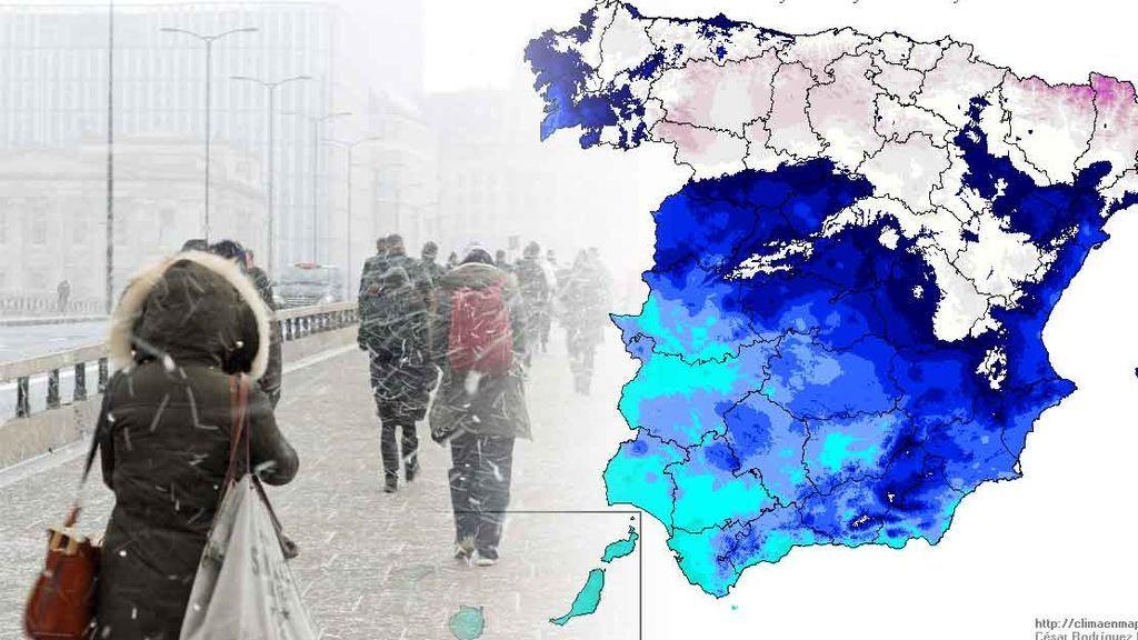 Cotas de nieve al nivel del mar: la 'bestia del Este' ya se empieza a notar en España