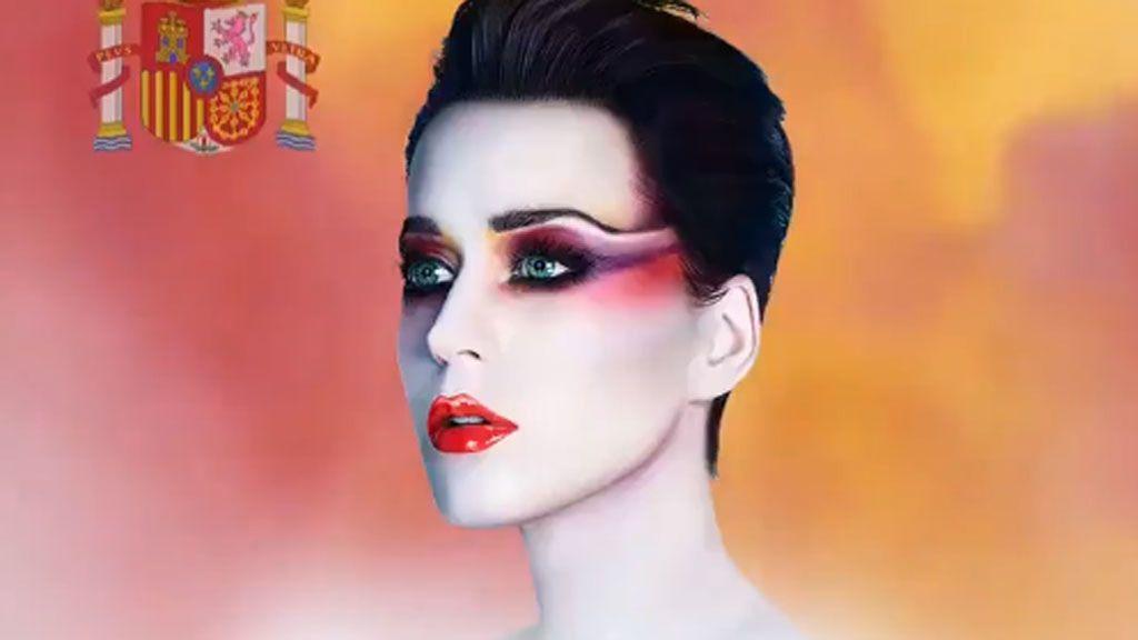 Katy Perry anuncia su concierto en Barcelona con una bandera de España y la lía