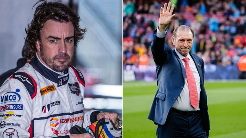 """Fernando Alonso recuerda a Quini con una foto de su infancia: """"Ídolo de mi niñez"""""""