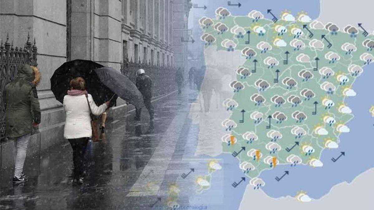 Lluvia, nieve y frío: te decimos hasta cuándo habrá que sacar el paraguas y los esquís