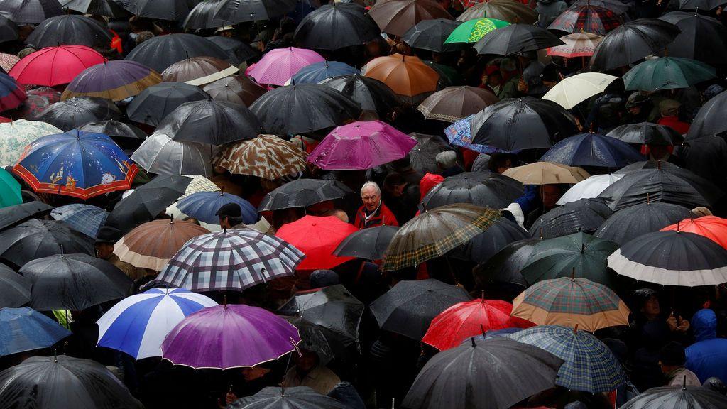 Una protesta de jubilados en contra de la subida de un 0'25% en las pensiones en Madrid