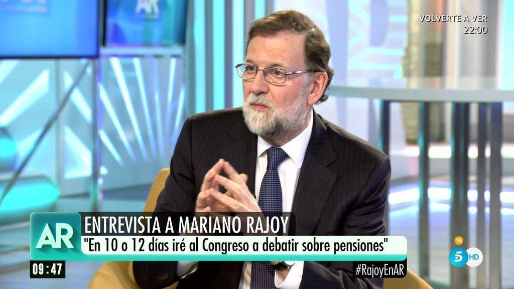 """Rajoy, sobre las pensiones: """"El pleno más importante de la legislatura va a ser el de las pensiones"""""""