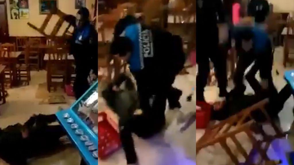 Graba a un urbano de Lleida pegando a un hombre en el suelo, lo denuncia y llega a las redes