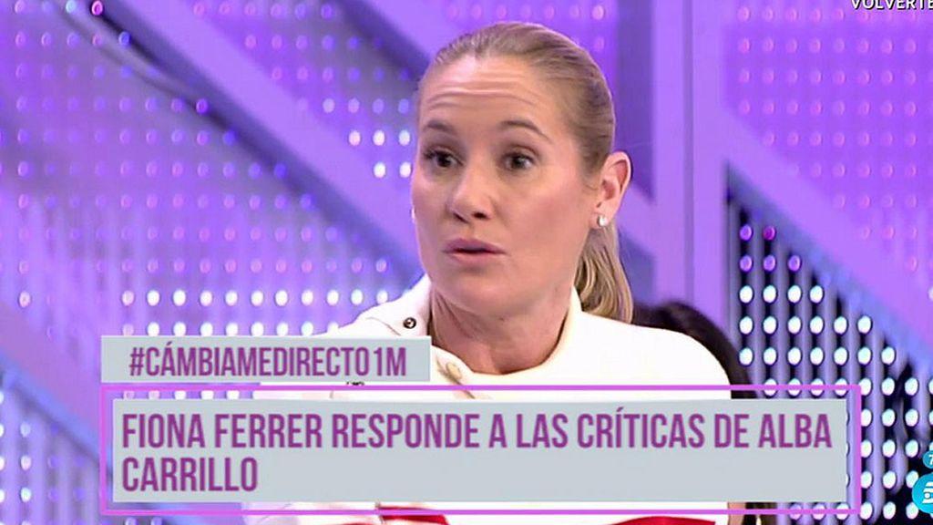 """Fiona Ferrer no entran en la polémica: """"Me da igual Alba Carrillo"""""""