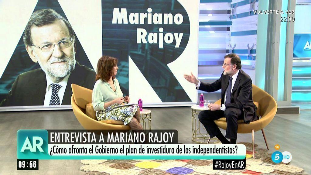 """Rajoy: """"El President de la Generalitat deberá estar limpio ante la ley y tener sentido común"""""""