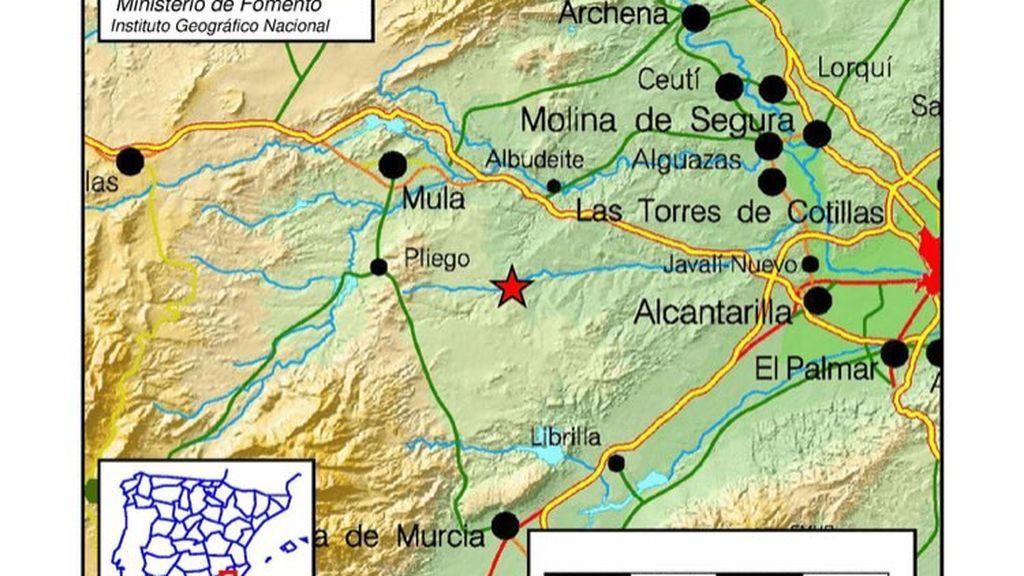 Dos terremotos de magnitud  4.1 y 3.8 grados sacuden la Región de Murcia