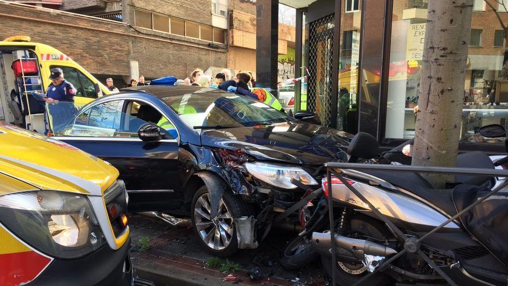 Un atropello múltiple se salda con cuatro heridos en Carabanchel (Madrid)