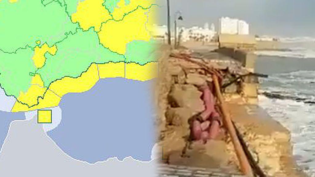 Emma continúa haciendo estragos en Andalucía: Córdoba, Sevilla, Huelva, Cádiz y Málaga, en alerta amarilla por fuertes lluvias