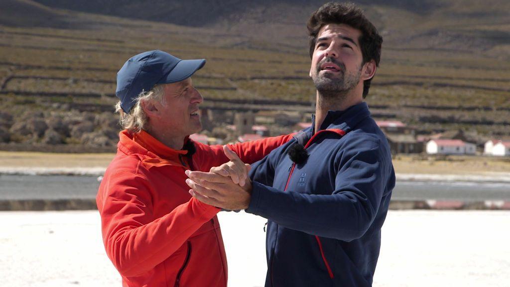 Miguel Ángel y Calleja se marcan un vals y desafían al mal de altura